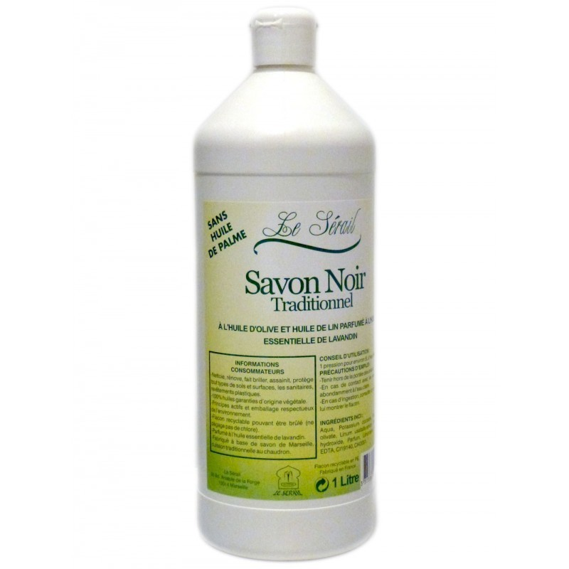 savon noir traditionnel le Sérail en litre