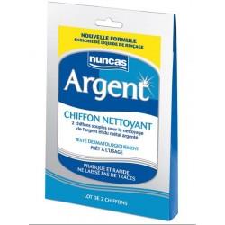 Chiffon Nettoyant Argent